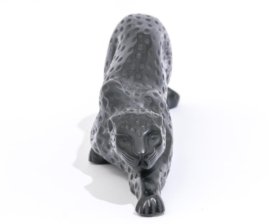 "Lalique French Art Glass ""Zeila"" Black Panther - 3"