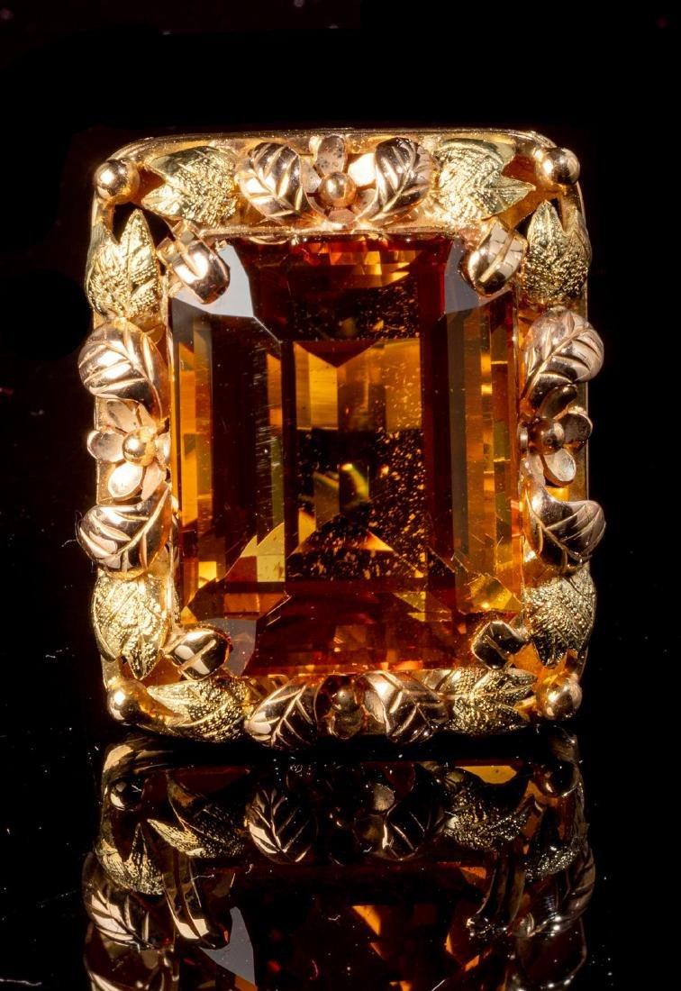 Ladies' Yellow Topaz & 14k Gold Ring