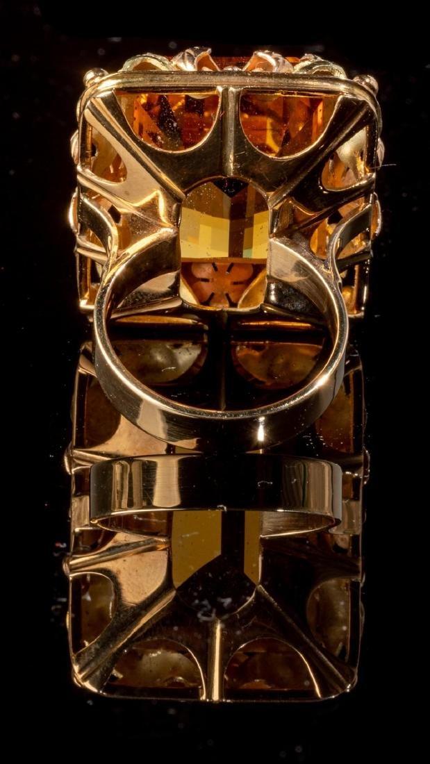 Ladies' Yellow Topaz & 14k Gold Ring - 3