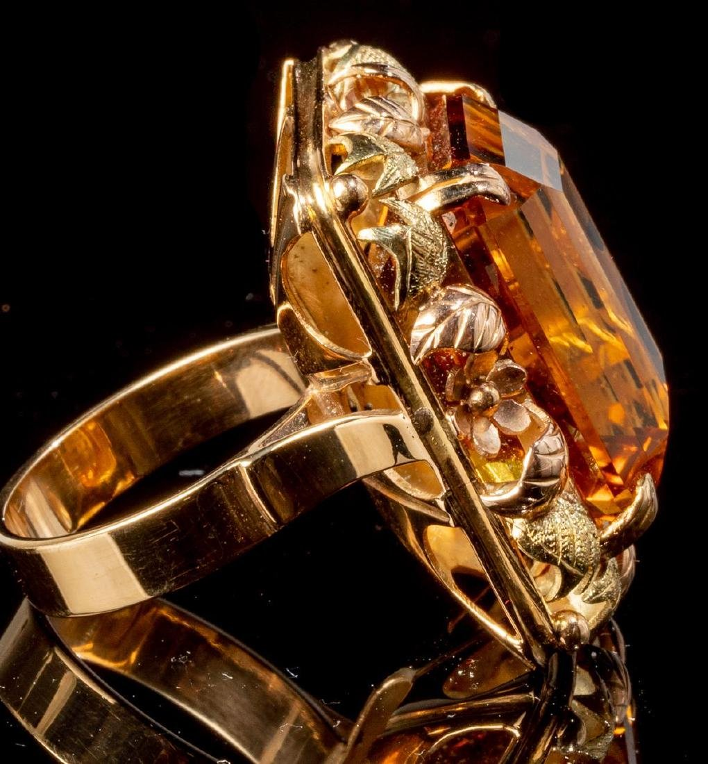 Ladies' Yellow Topaz & 14k Gold Ring - 4
