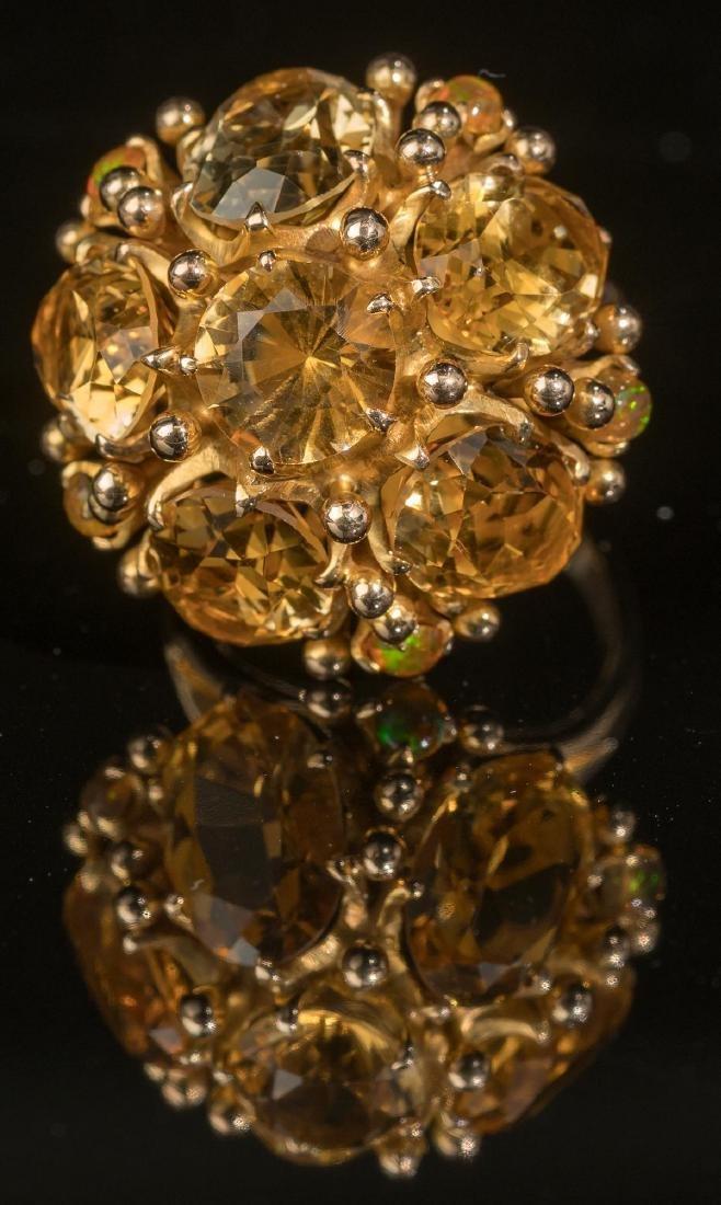 Ladies' Estate Citrine, 14k Gold Cocktail Ring