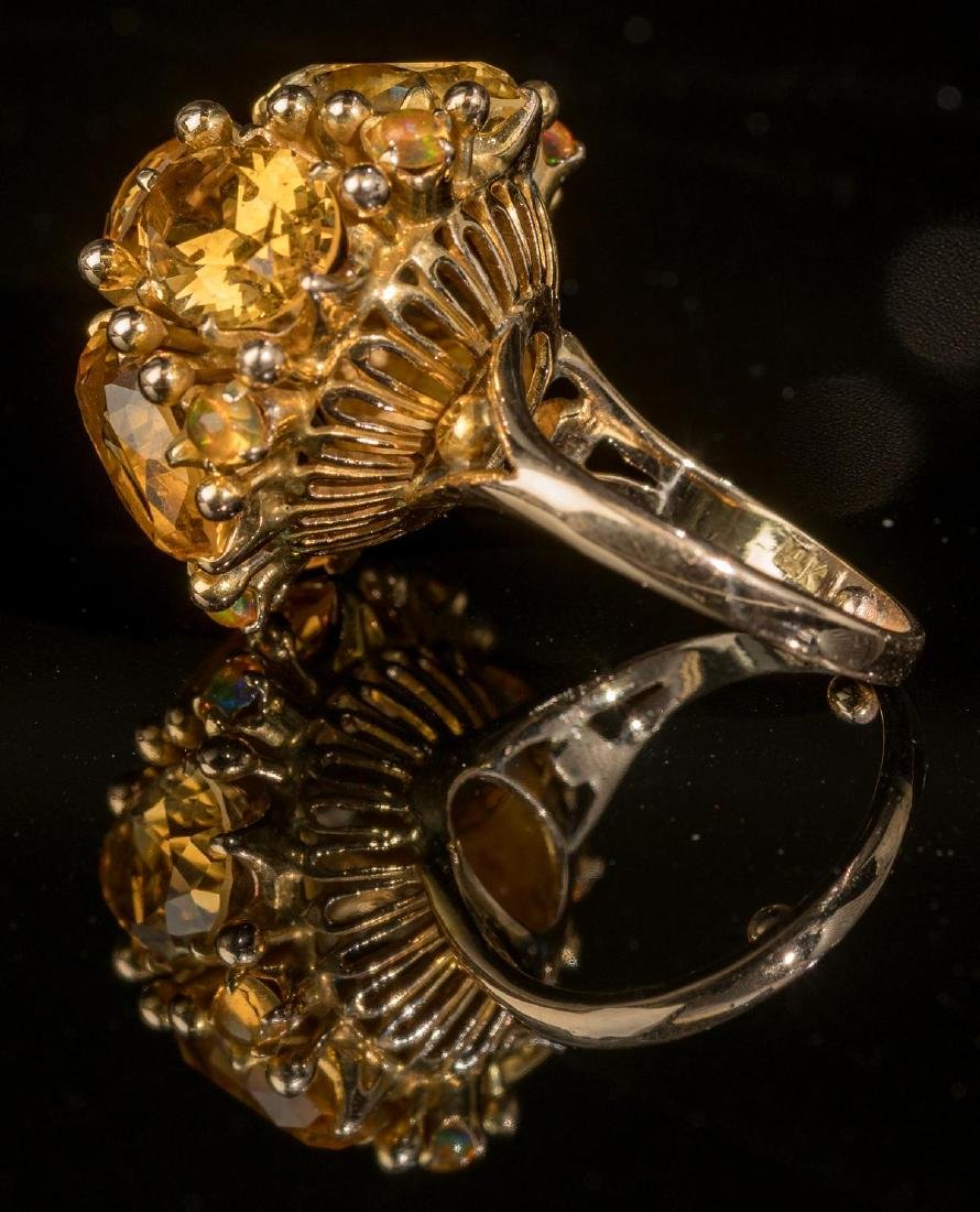 Ladies' Estate Citrine, 14k Gold Cocktail Ring - 2