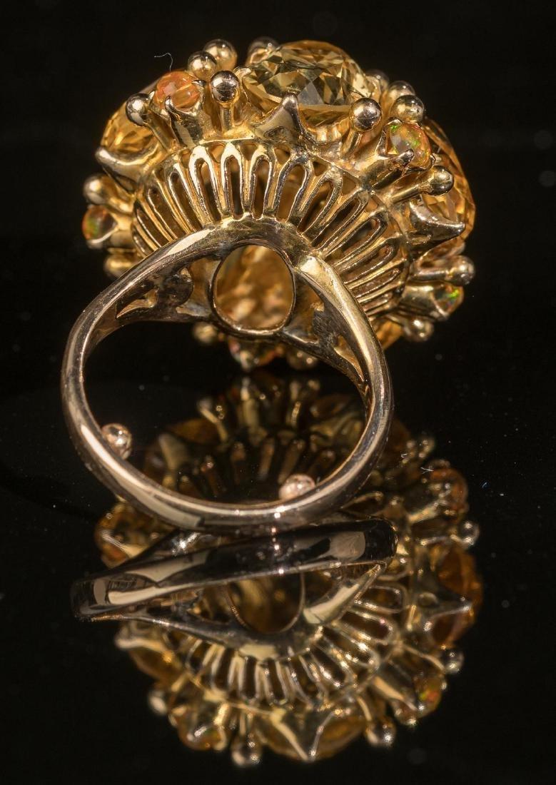 Ladies' Estate Citrine, 14k Gold Cocktail Ring - 3