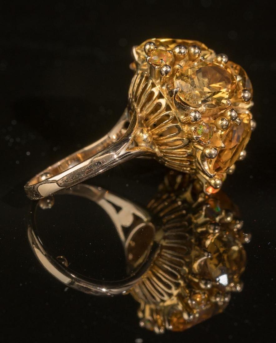 Ladies' Estate Citrine, 14k Gold Cocktail Ring - 4
