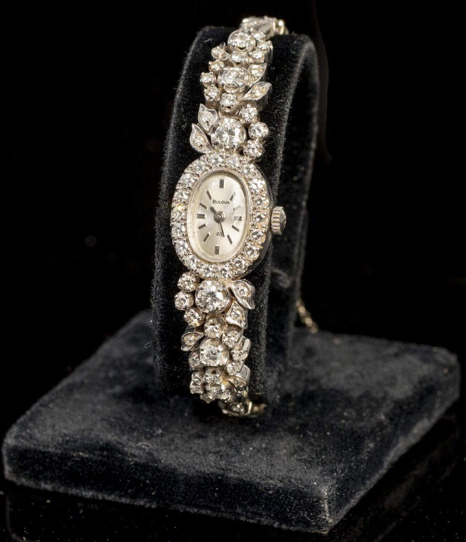 Bulova Art Deco Period 14k Gold & Diamond Watch
