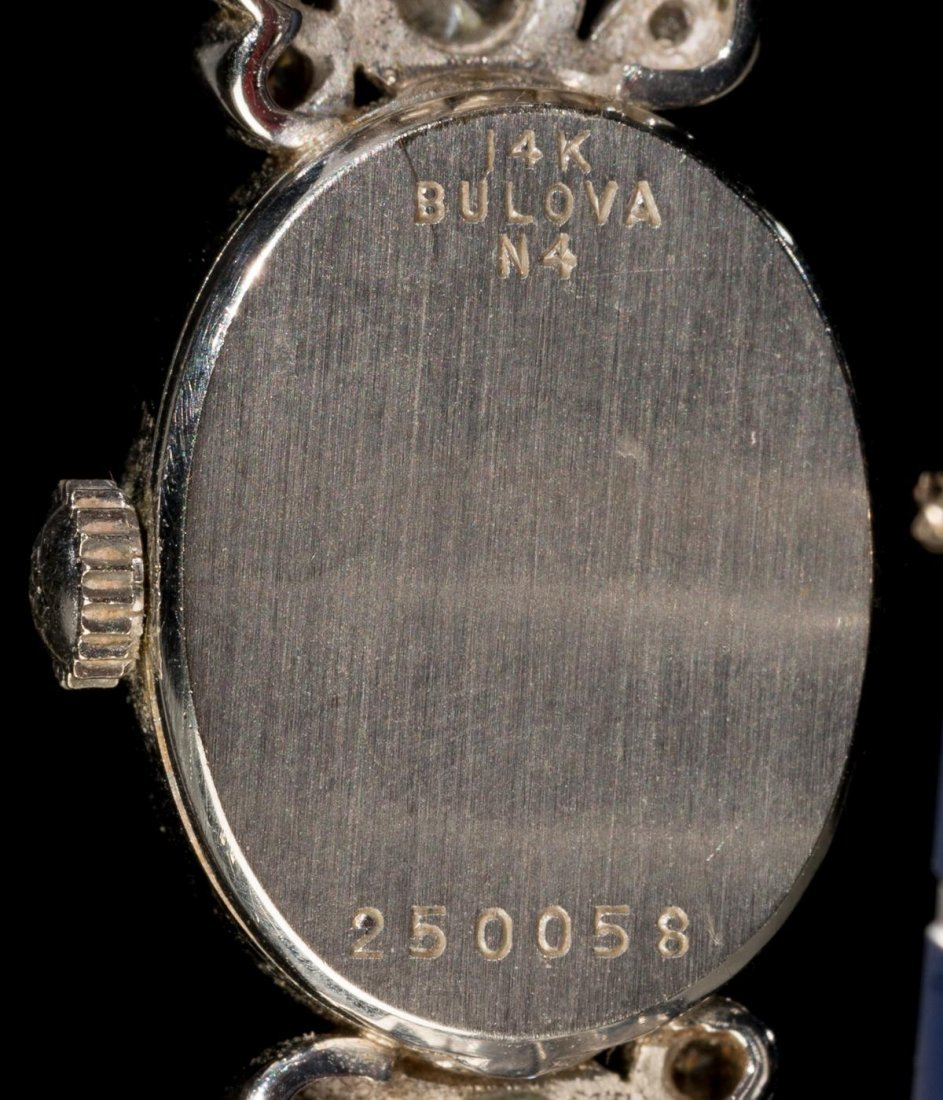 Bulova Art Deco Period 14k Gold & Diamond Watch - 4