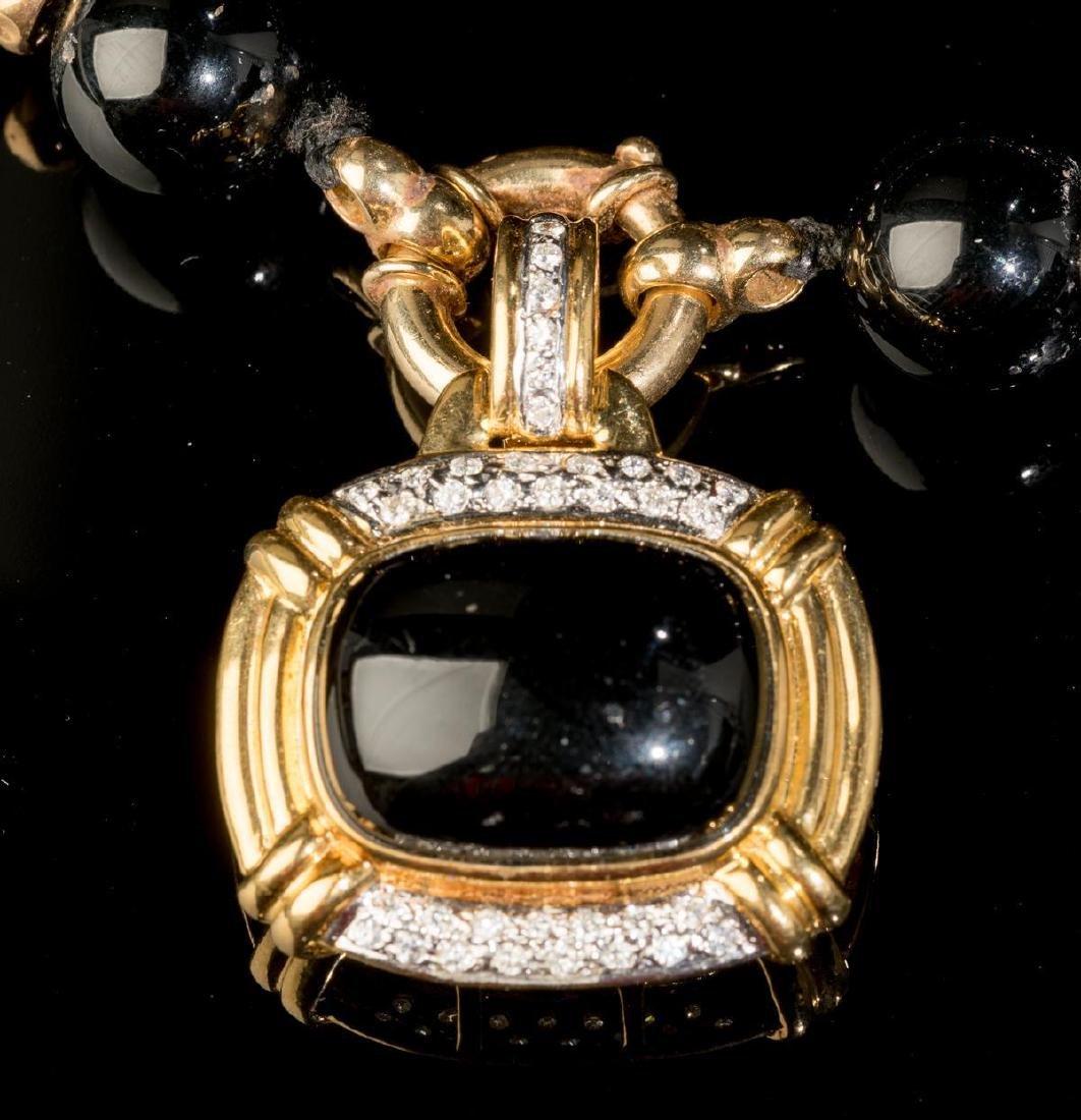 Diamond, Black Onyx, Gold Jewelry Suite - 2