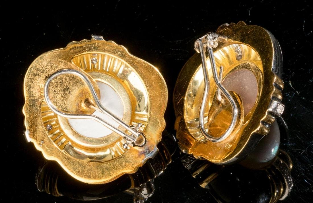 Diamond, Black Onyx, Gold Jewelry Suite - 6