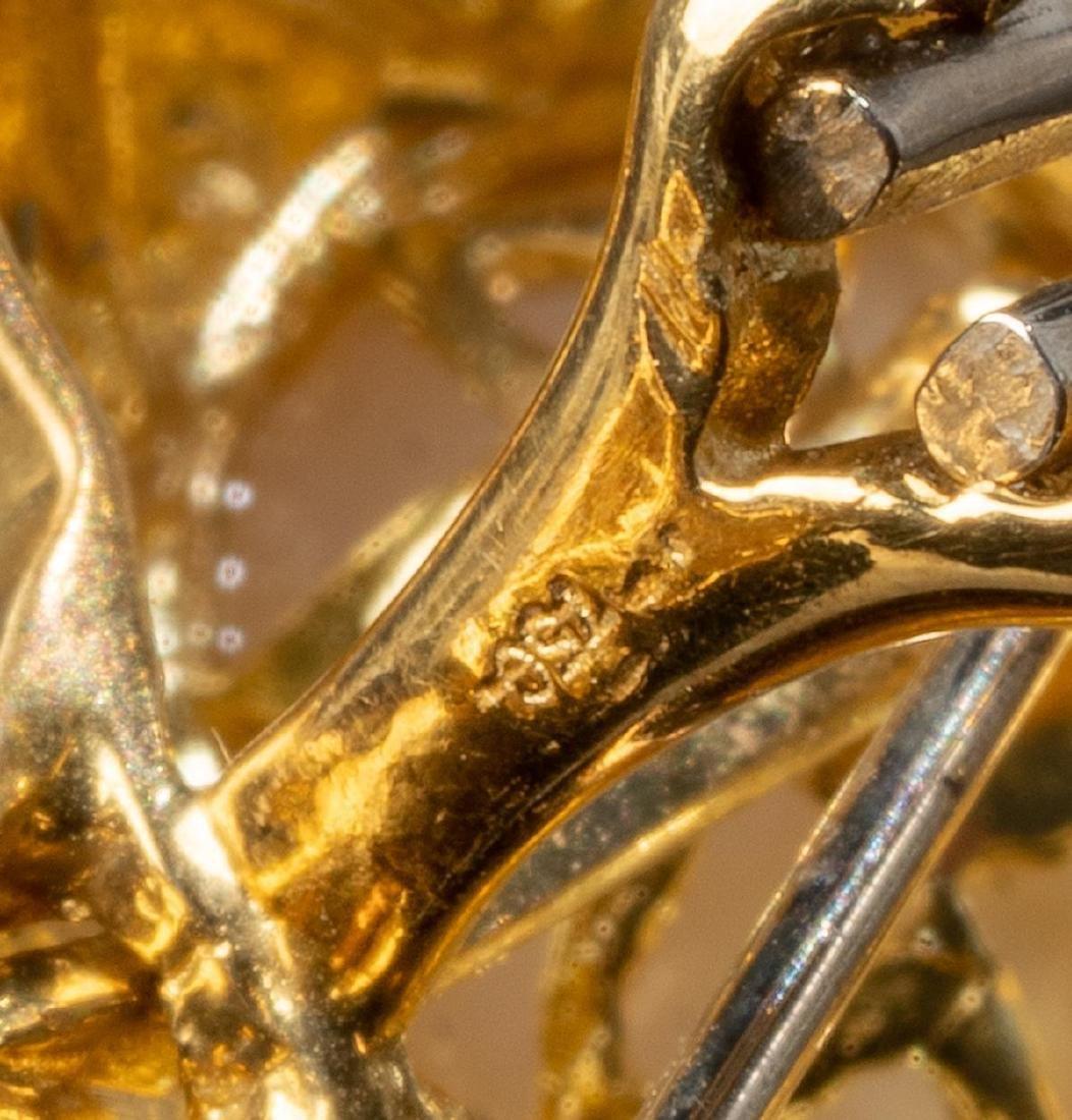 Diamond & Pearl 14k Gold Earrings - 5