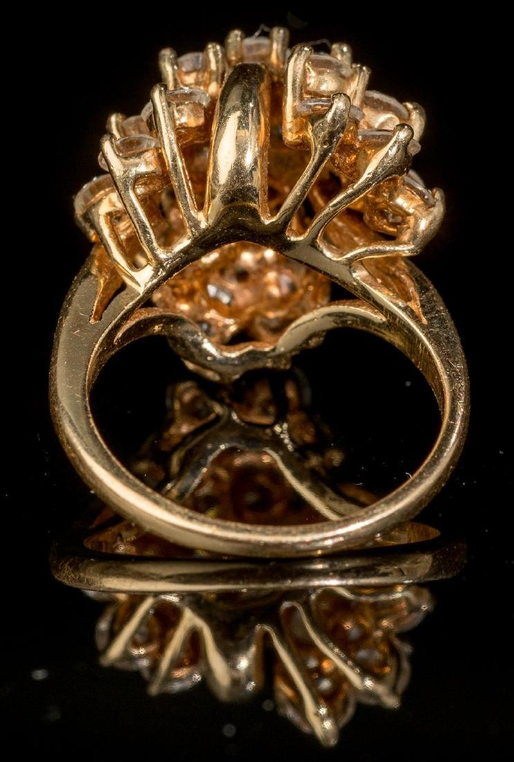 Estate Jewelry 3.45 ctw Diamond Cluster Ring - 3