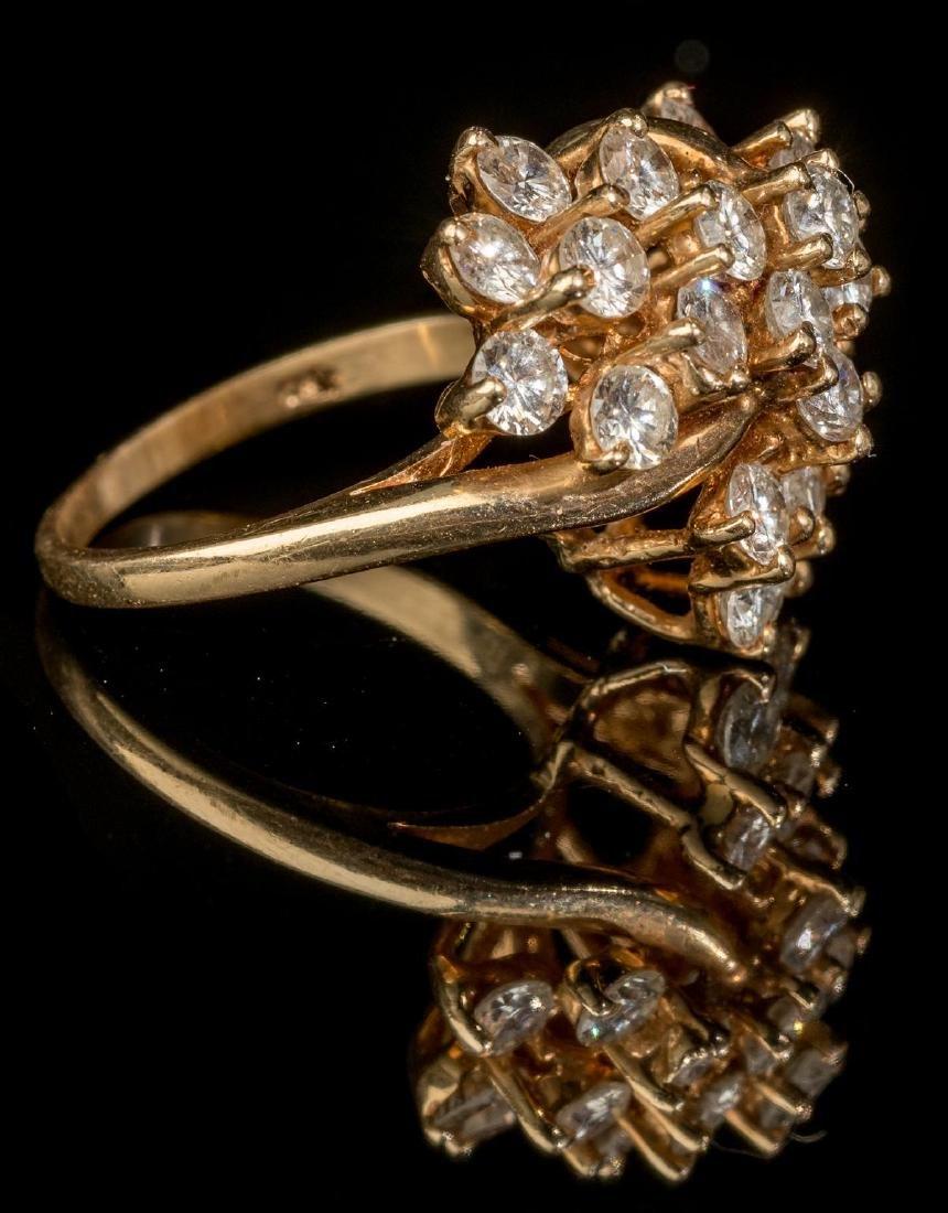 Estate Jewelry 3.45 ctw Diamond Cluster Ring - 4