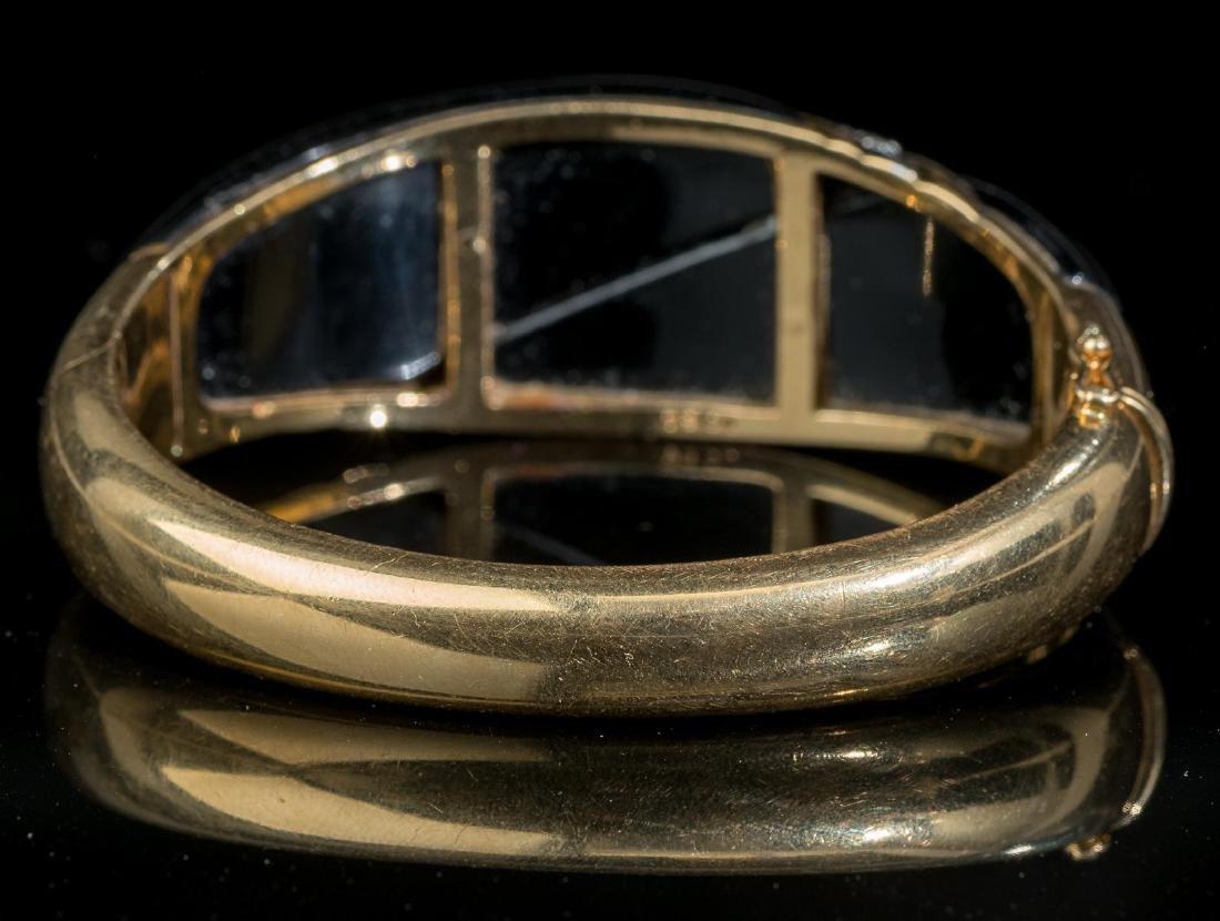 Diamond, Onyx, 18k Gold Bracelet - 3