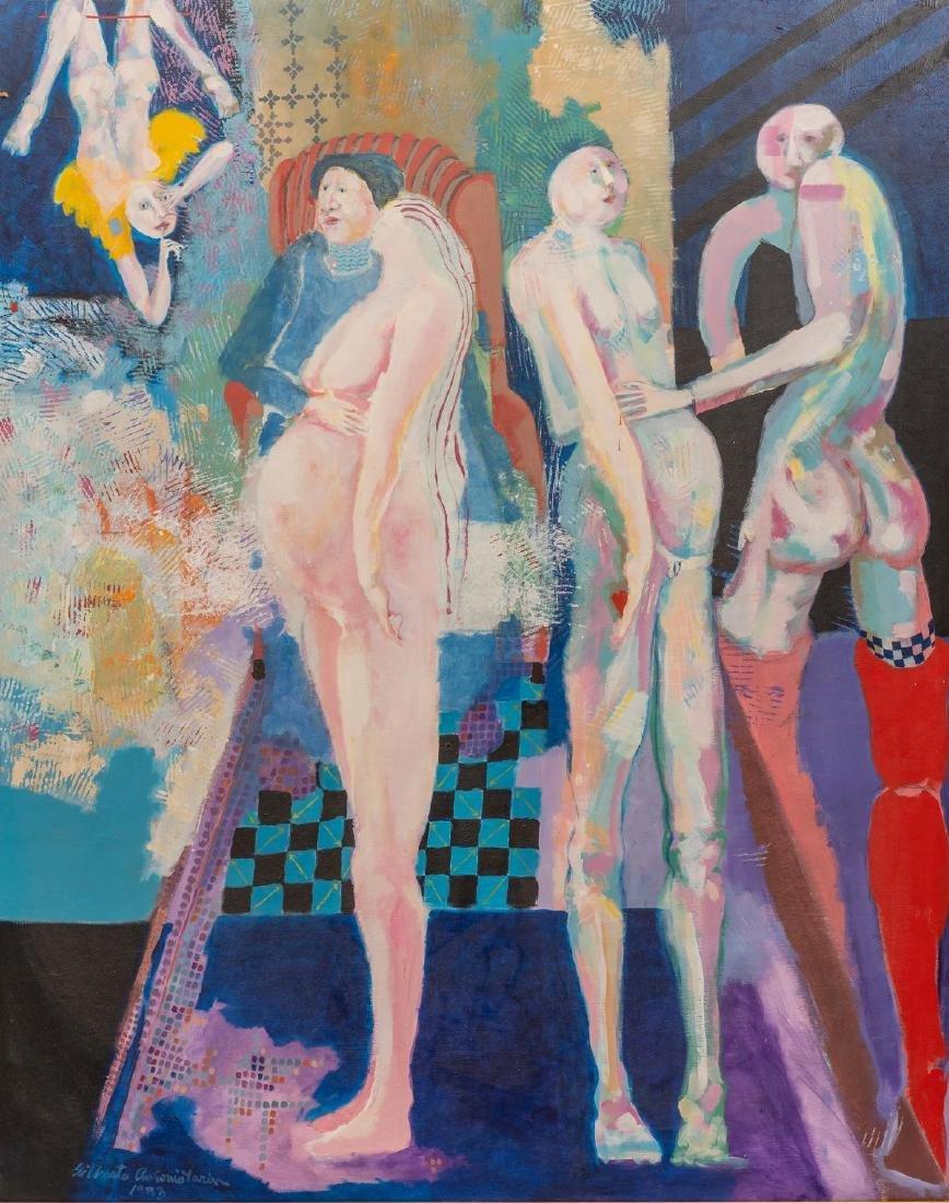 Gilberto Tarin (Texas, 1970's), Untitled, acrylic on