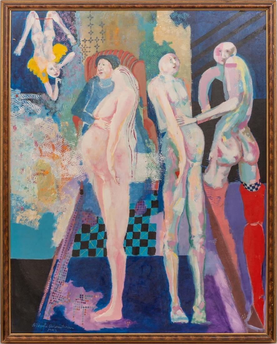 Gilberto Tarin (Texas, 1970's), Untitled, acrylic on - 2