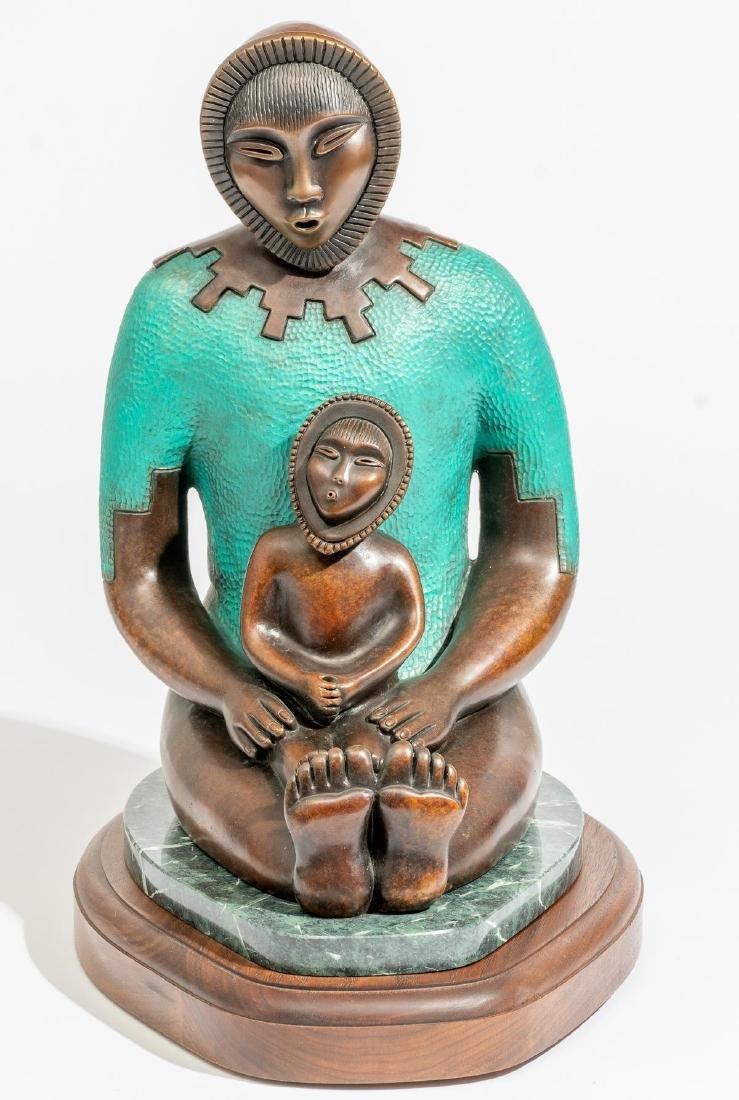 Estella Loretto (Jemez, b.1954) Bronze Sculpture - 2
