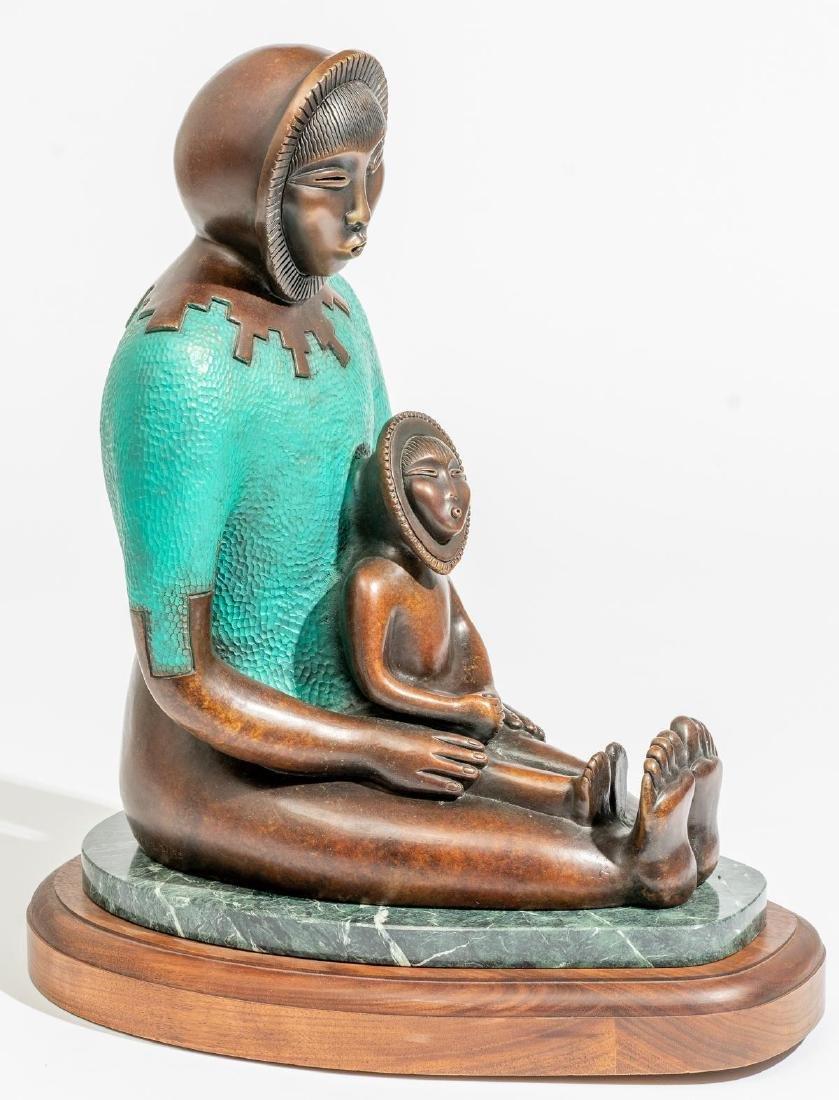 Estella Loretto (Jemez, b.1954) Bronze Sculpture - 3
