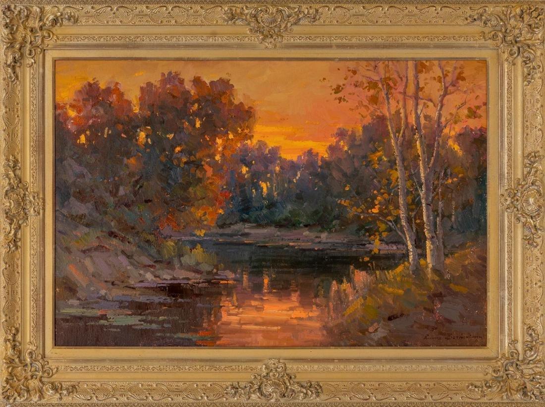 "Ovanes Berberian, landscape, oil on canvas, 24 x 36"" - 2"