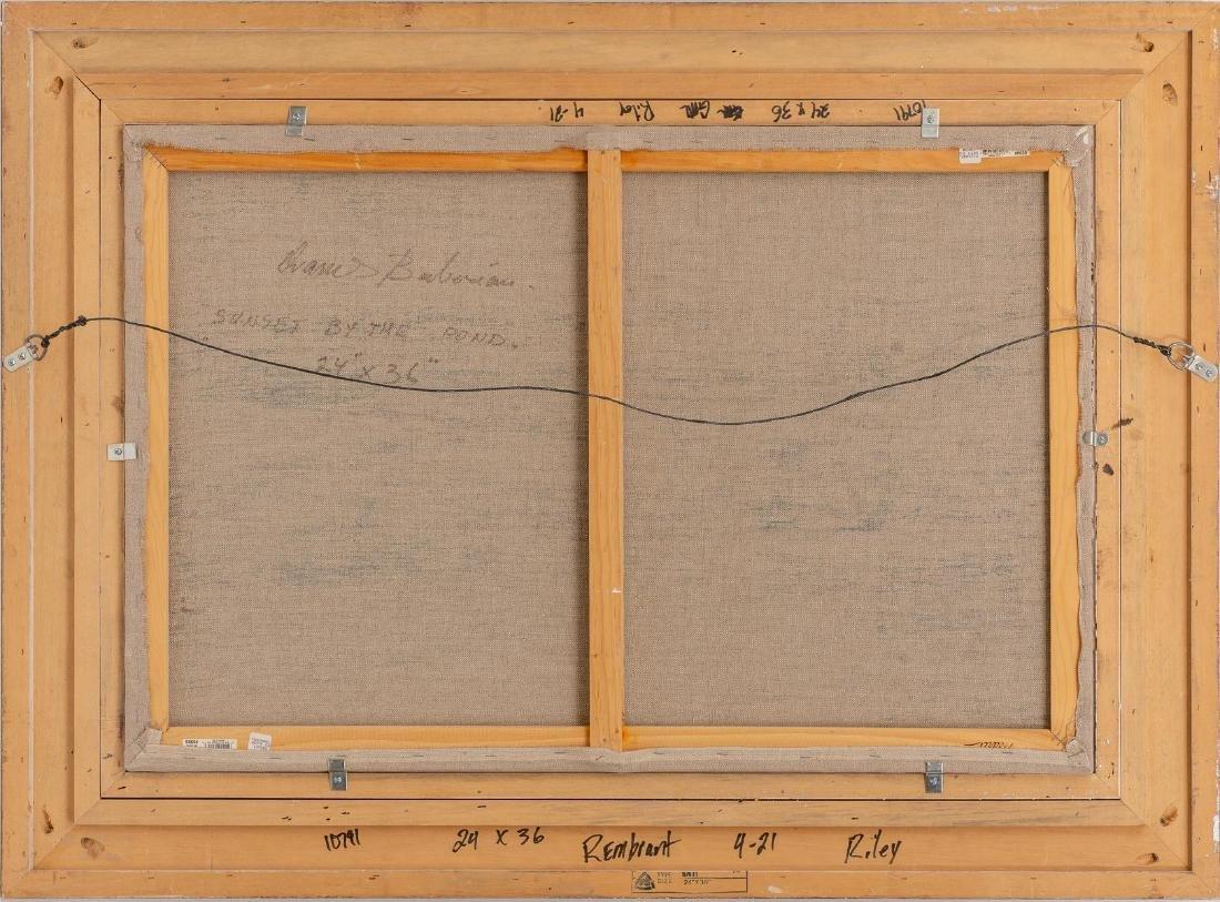 "Ovanes Berberian, landscape, oil on canvas, 24 x 36"" - 4"