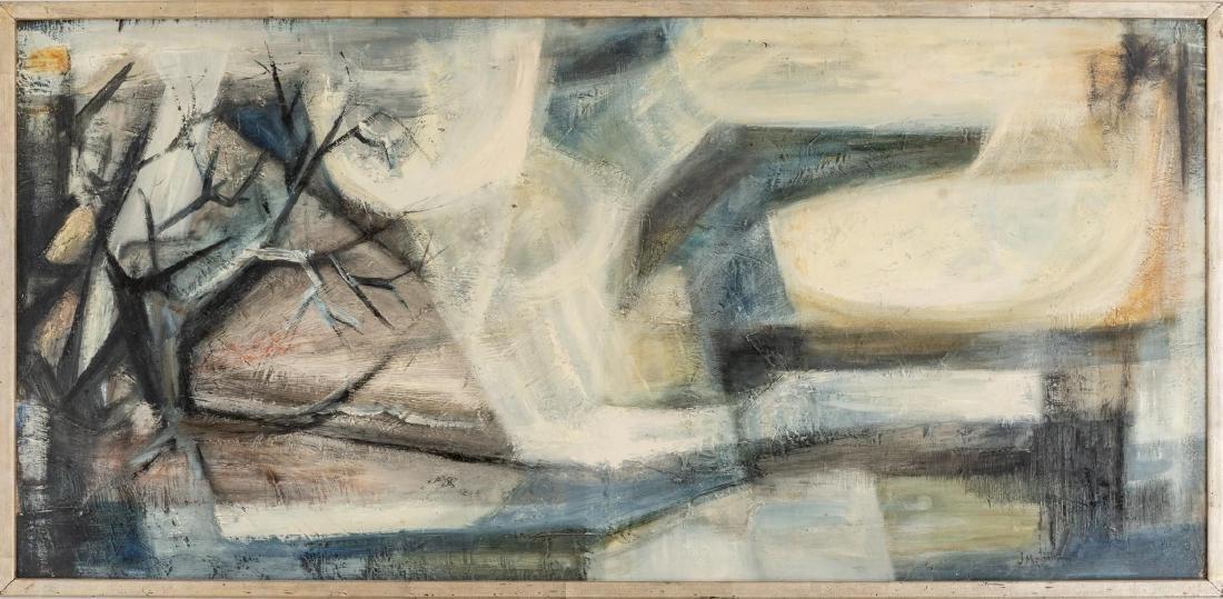 """Jesse Medellin, """"Landscape"""", oil on board, 22.75 x 48"""" - 2"""