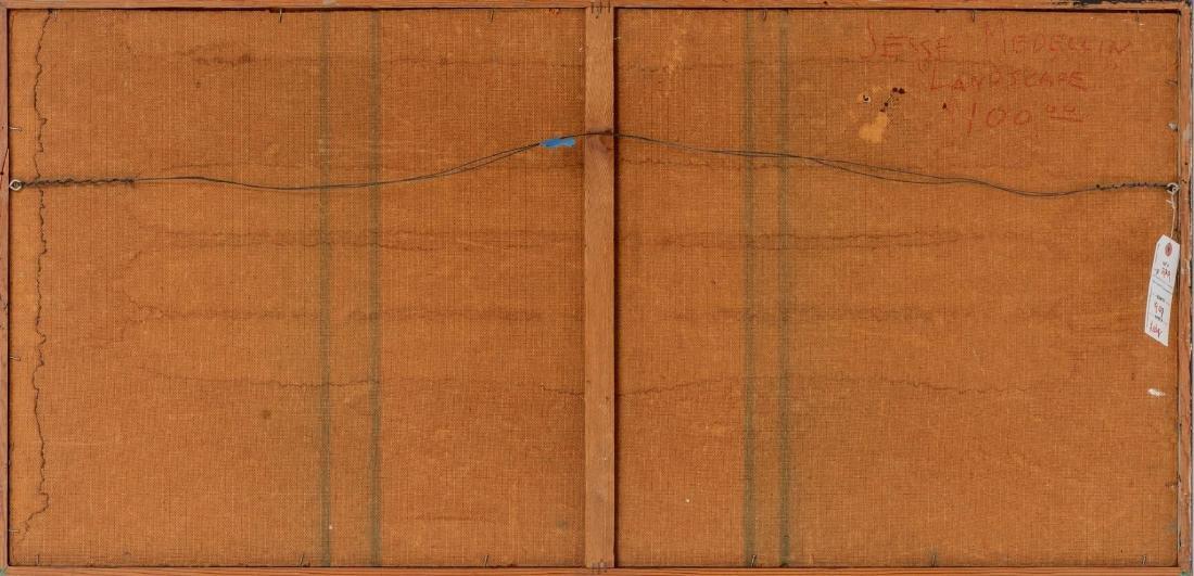 """Jesse Medellin, """"Landscape"""", oil on board, 22.75 x 48"""" - 4"""