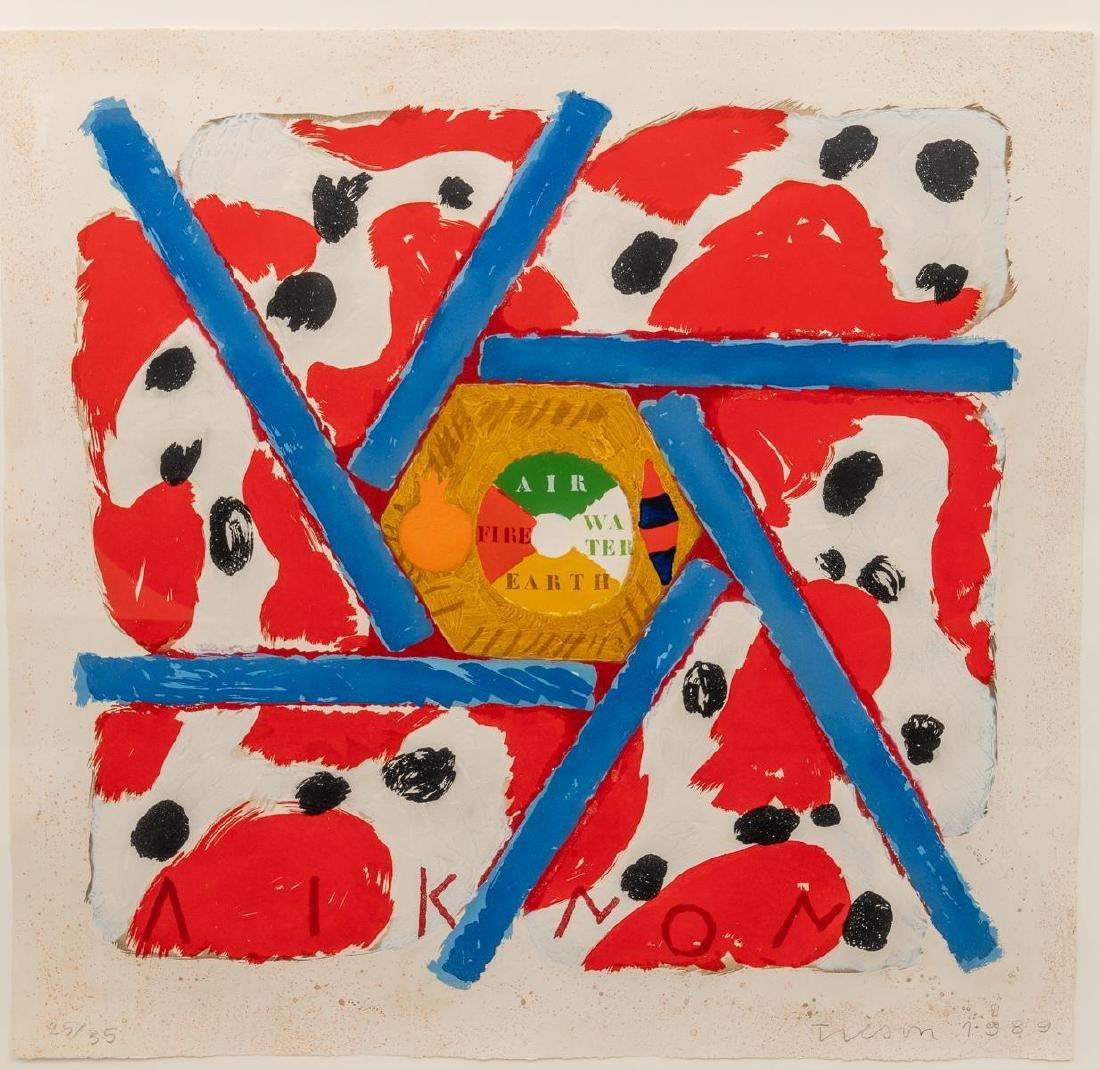 """Joe Tilson(American, b. 1928), """"Liknon Red"""", 1989,"""