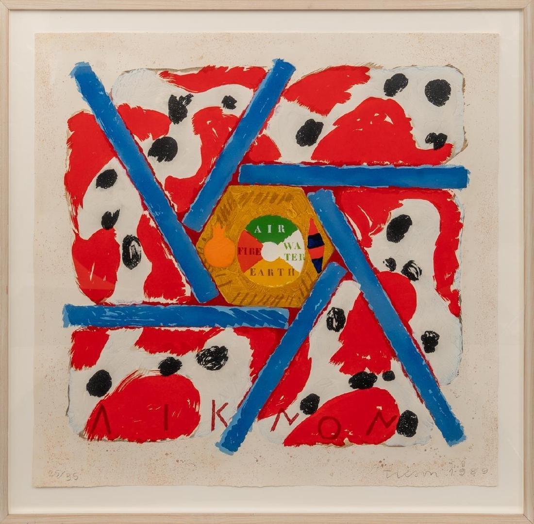 """Joe Tilson(American, b. 1928), """"Liknon Red"""", 1989, - 2"""