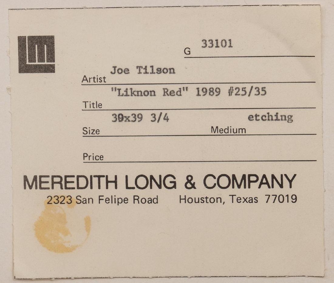 """Joe Tilson(American, b. 1928), """"Liknon Red"""", 1989, - 7"""