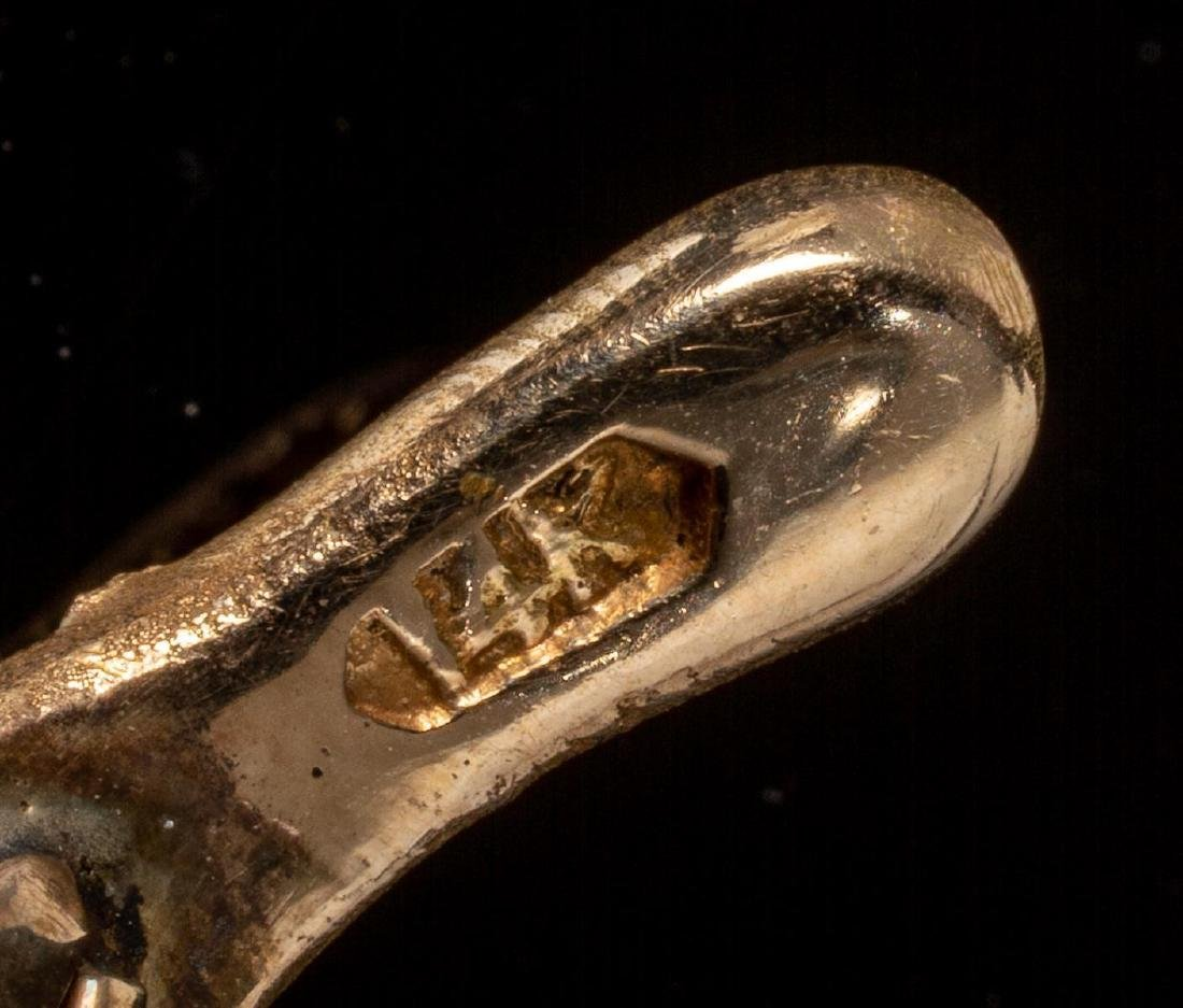 Opal & 14k Gold Wheat Form Pin - 3