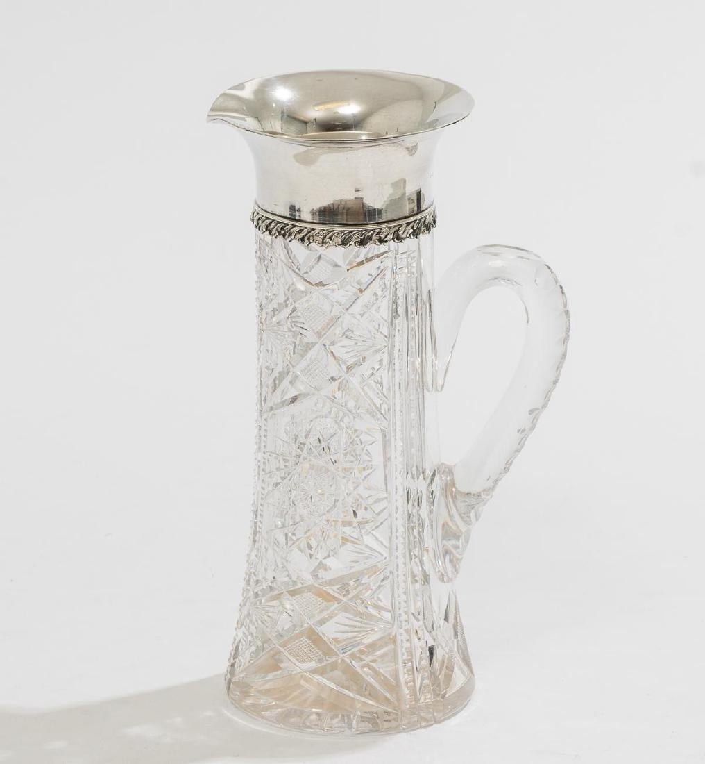 Tiffany & Co. Cut Glass & Sterling Pitcher