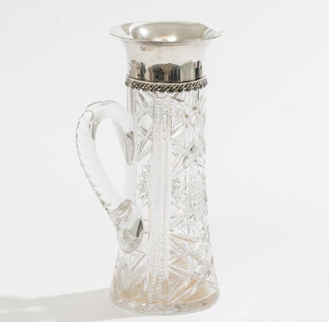 Tiffany & Co. Cut Glass & Sterling Pitcher - 2