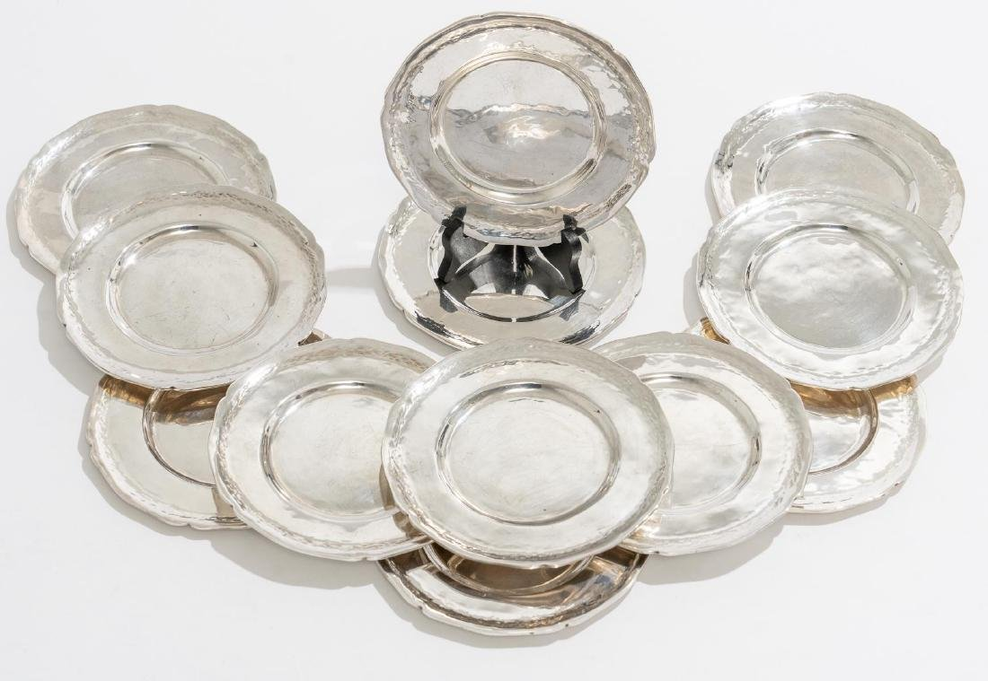 Peruvian Sterling Set 12 Bread Plates