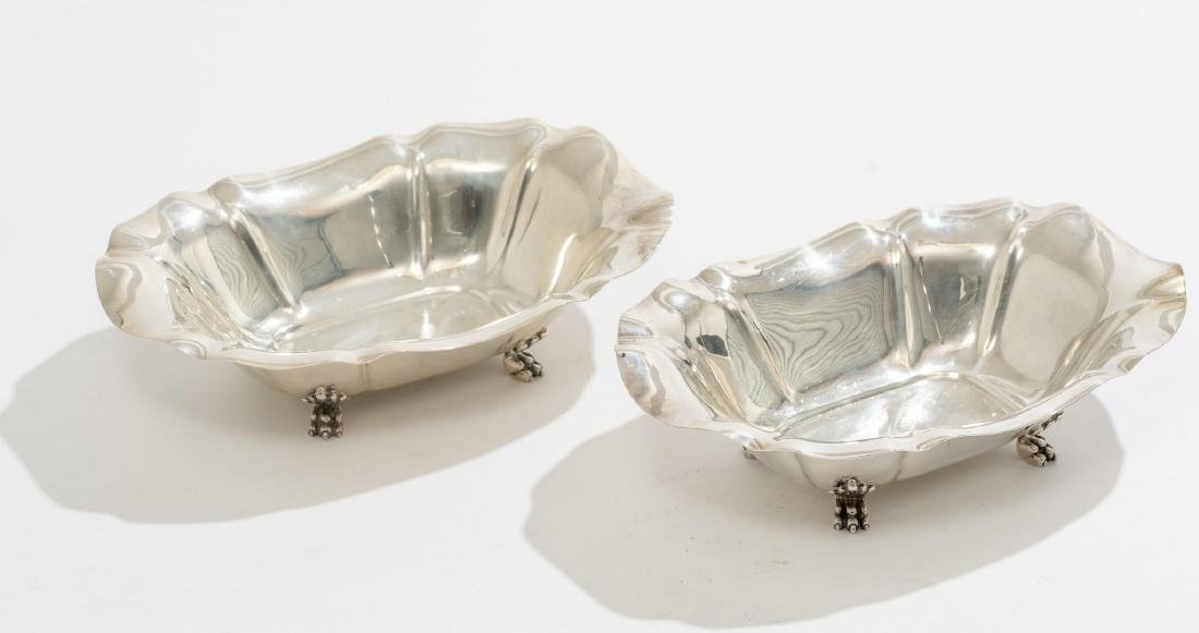 Salem by Reed & Barton Pair Sterling Serving Dishes