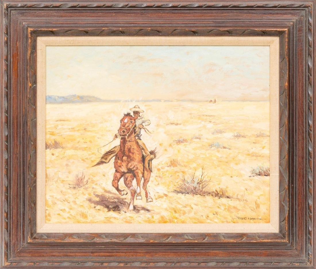Robert Harrison (b. 1949), Cowboy, oil on canvas, - 2
