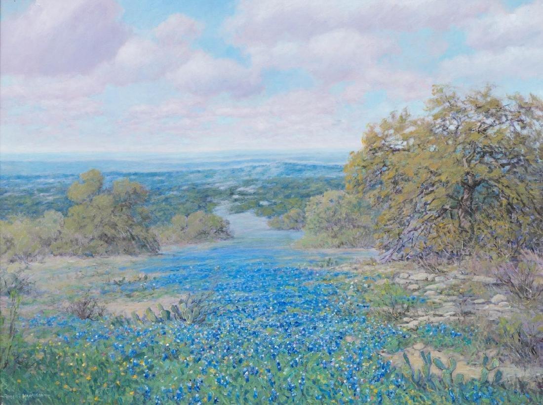 Robert Harrison (b. 1949), Bluebonnets, oil on canvas,