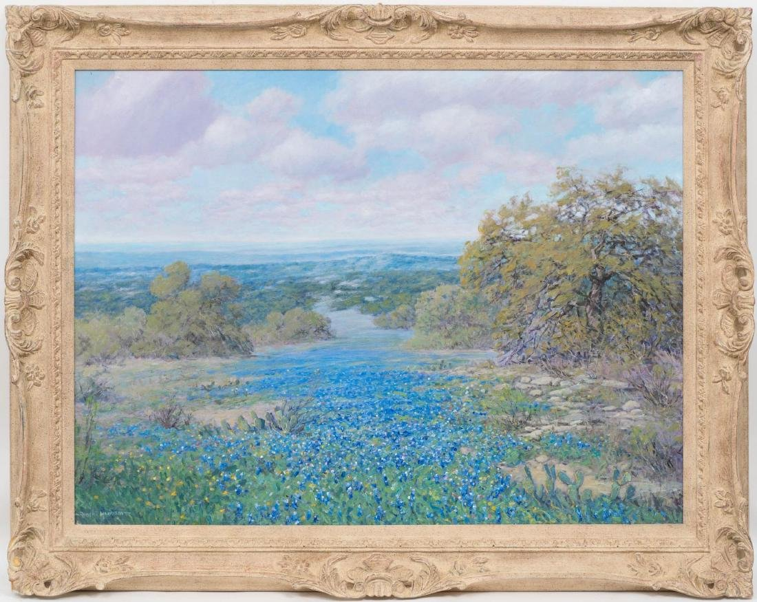 Robert Harrison (b. 1949), Bluebonnets, oil on canvas, - 2