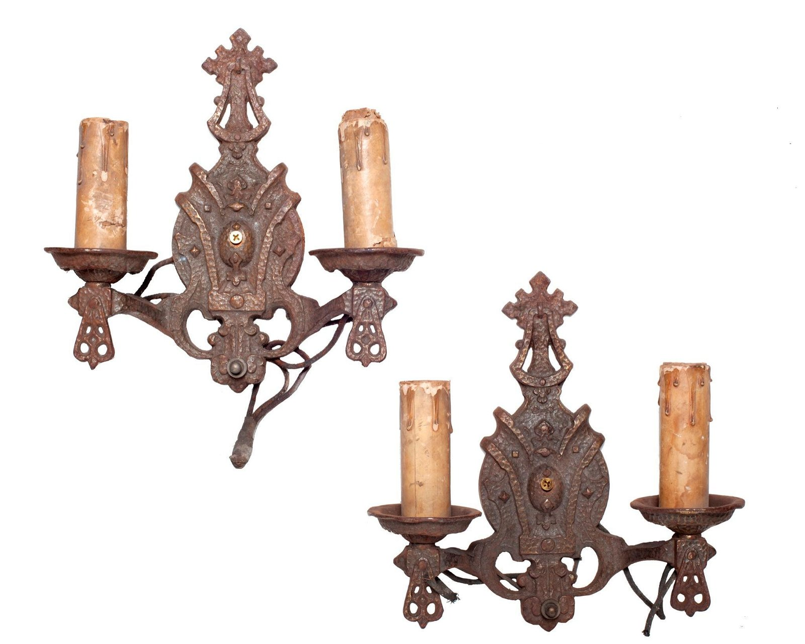 Pair of Spanish Style Gothic Revival Wall Sconces