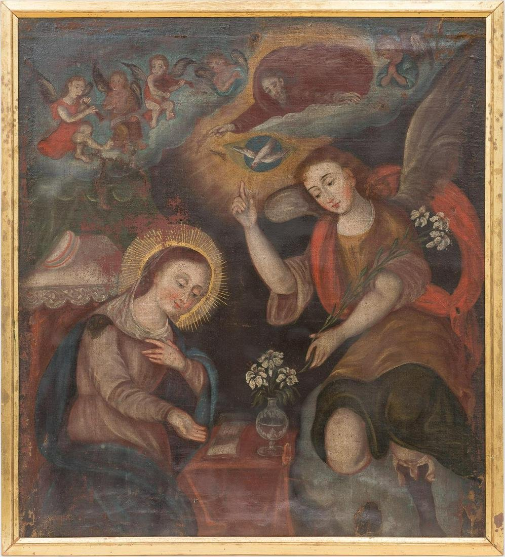 Oil on Canvas of the Annunciation of the Virgin Mary