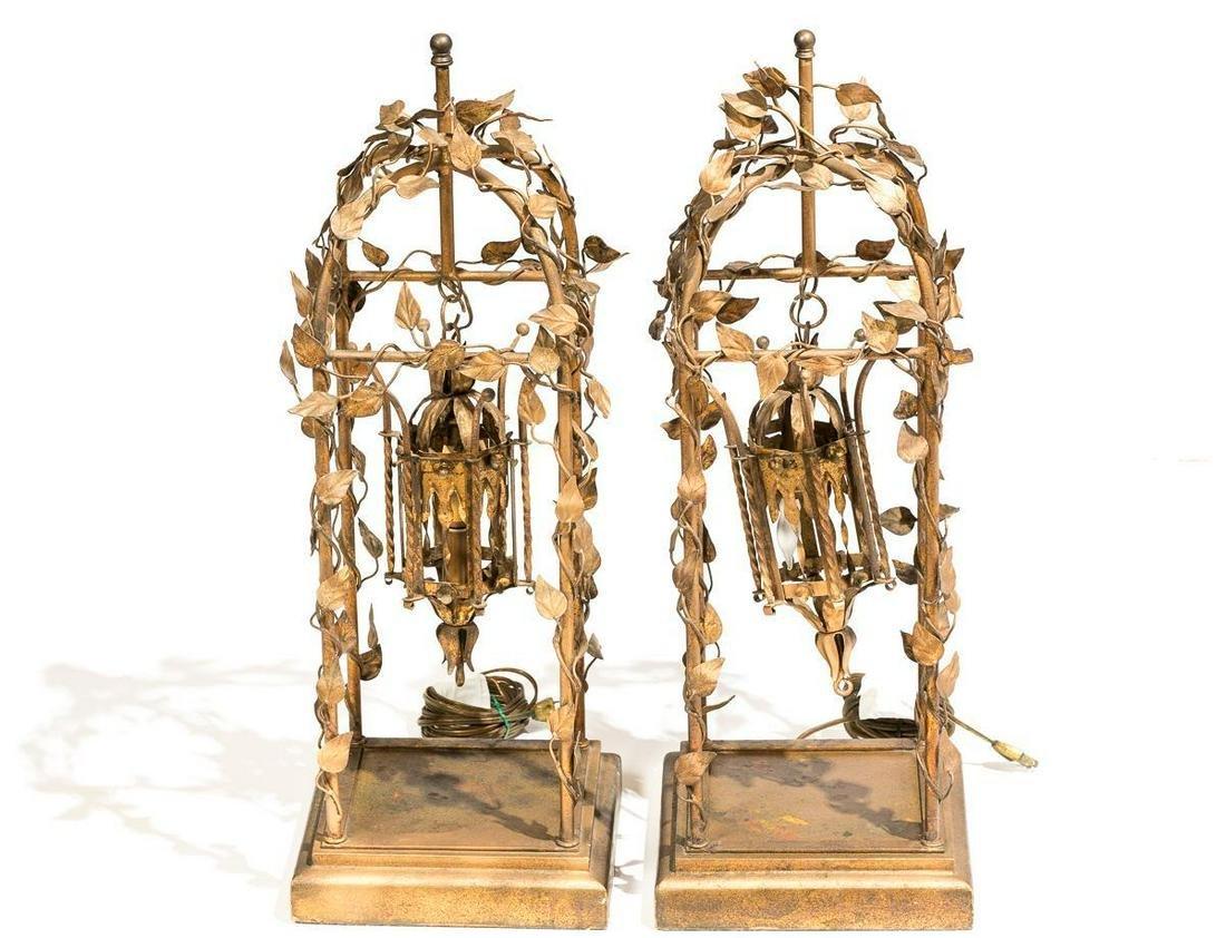 Pair of Renaissance Style Foliate Lanterns