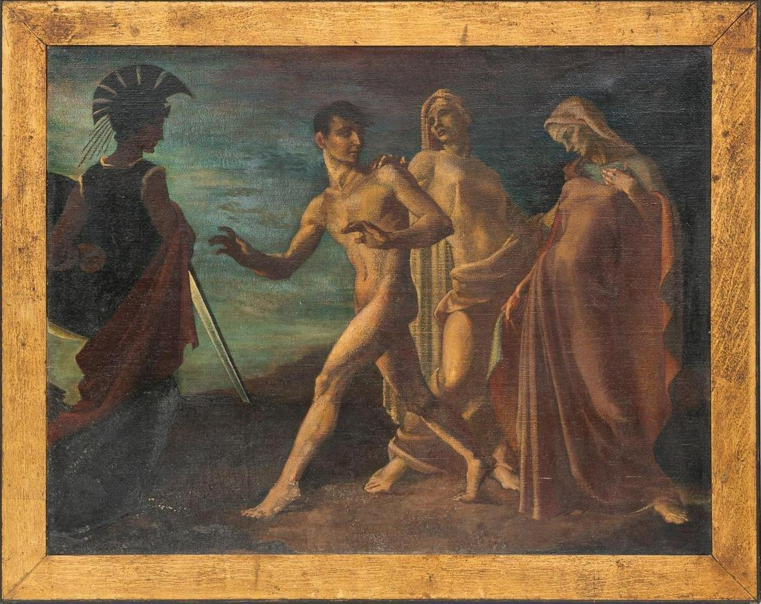 Oil on Canvas Roman Style Painting