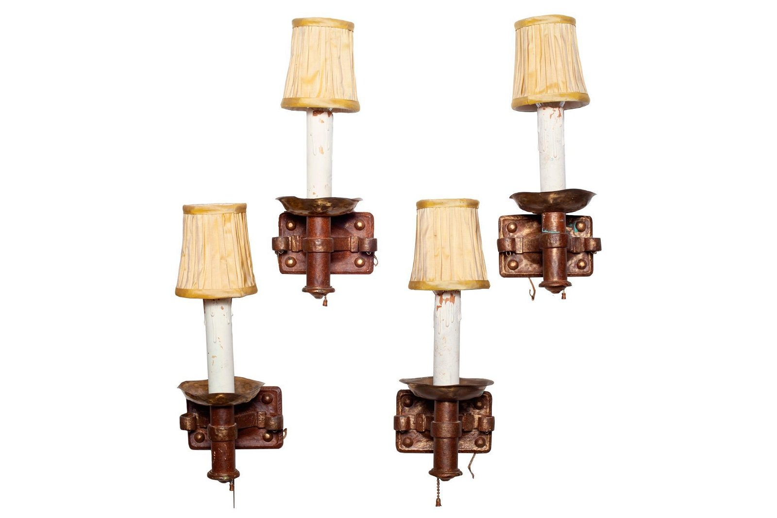 Set of Four Arts & Crafts Style Wall Sconces
