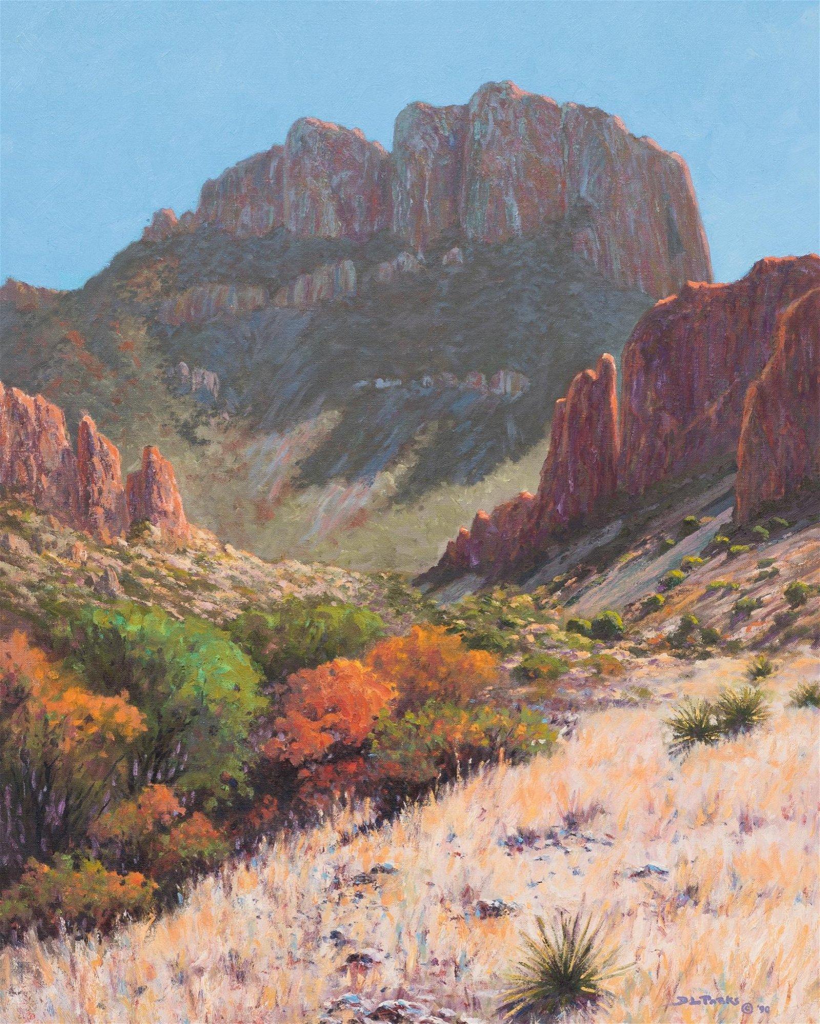 "Don Parks (b. 1943), ""El Capitan Morning"", 1990, oil"