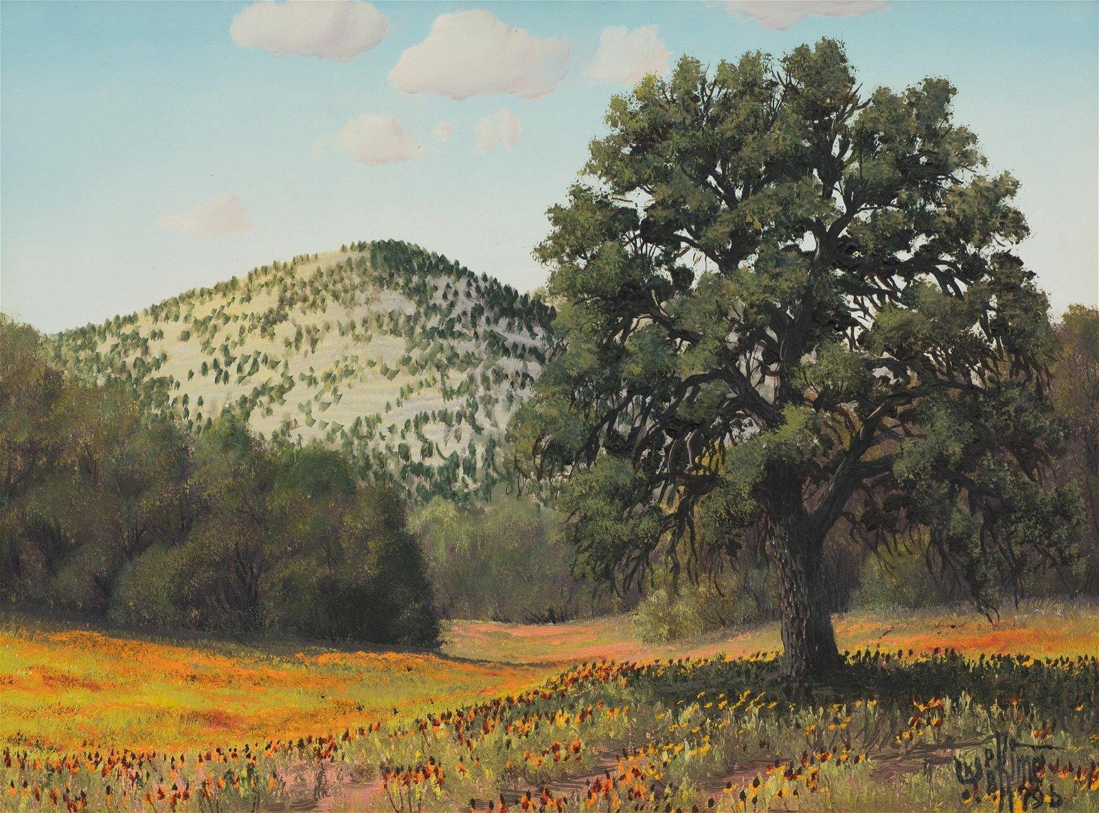 "Paul B. Kime, Wildflowers, 1996, oil on board, 12 x 16"""