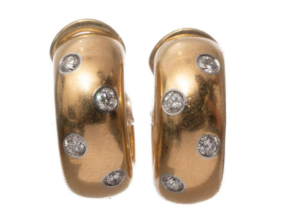 Tiffany & Co. Etoile Diamond, Platinum & 18k Earrings