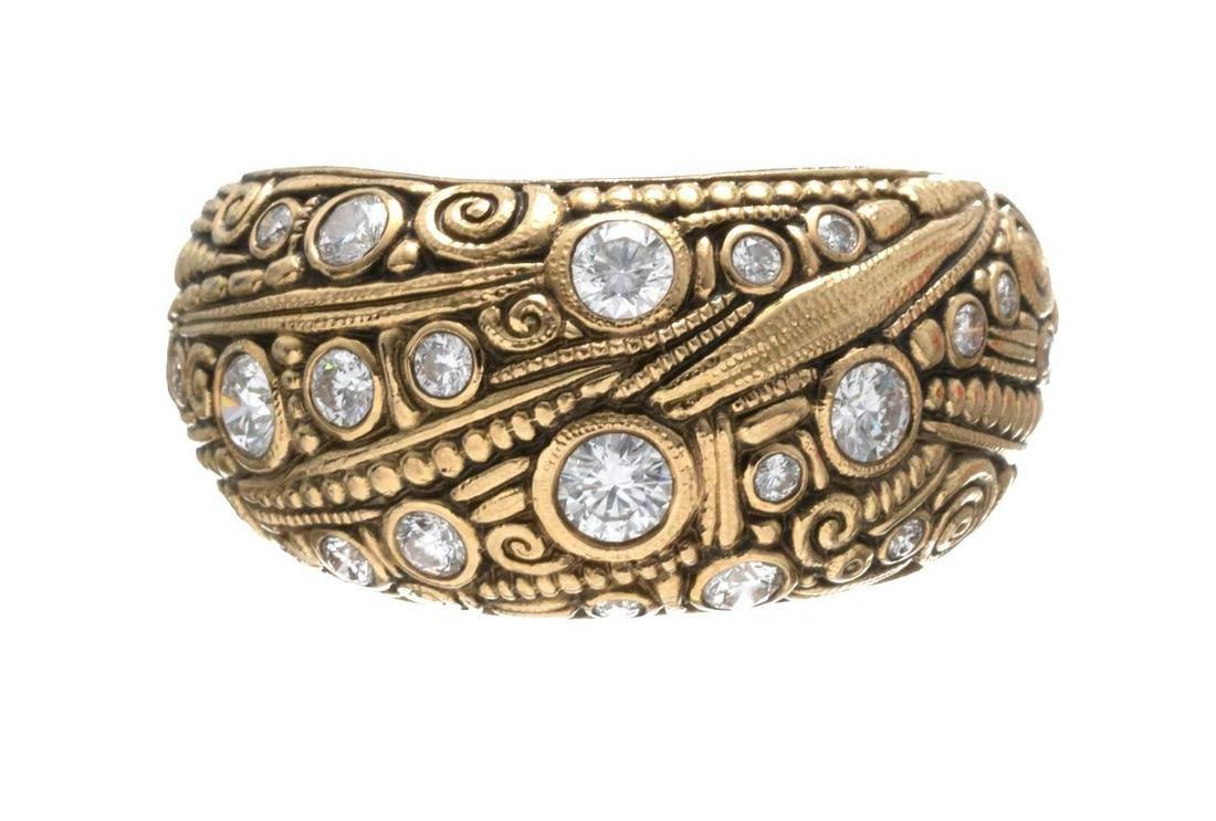 Alex Sepkus Diamond & 18k Gold Ring