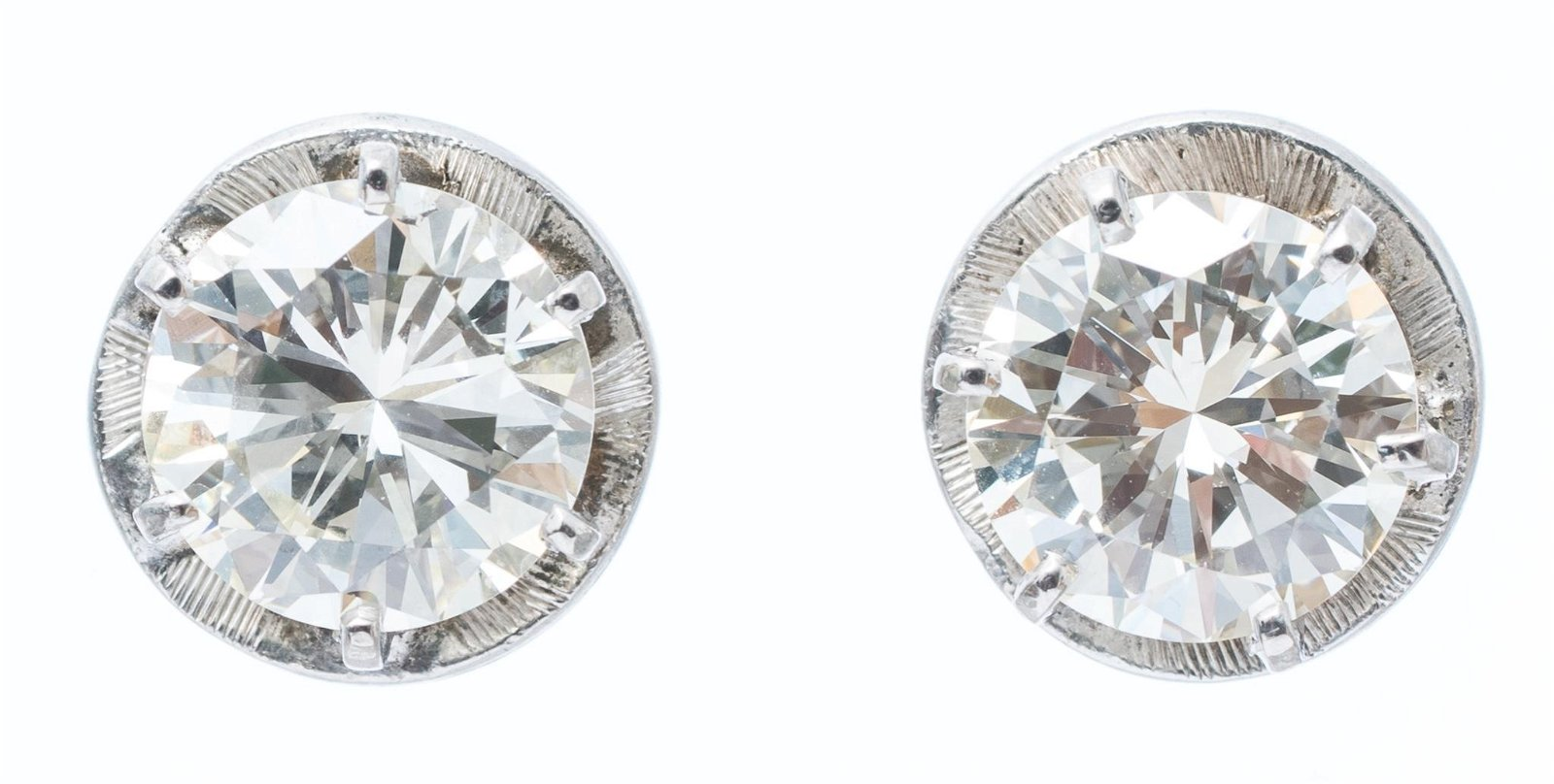 4.01ctw. Diamond Stud Earrings GIA Certified
