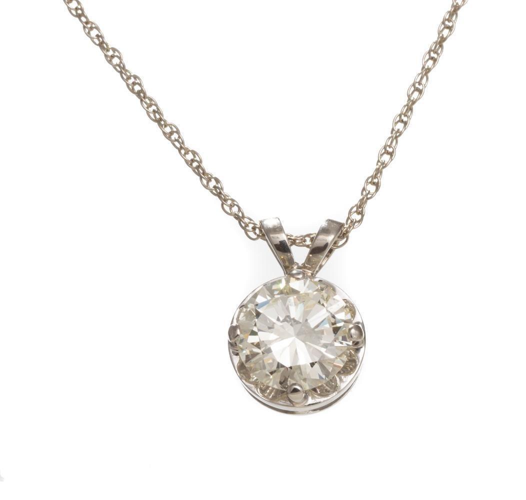2.58 ct. Diamond Drop Pendant GIA Certified