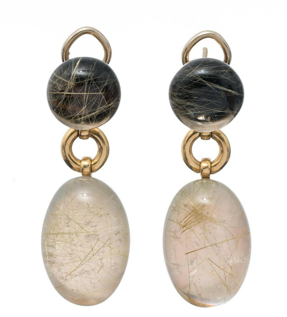 Vaid Roma Quartz & 18k Gold Earrings