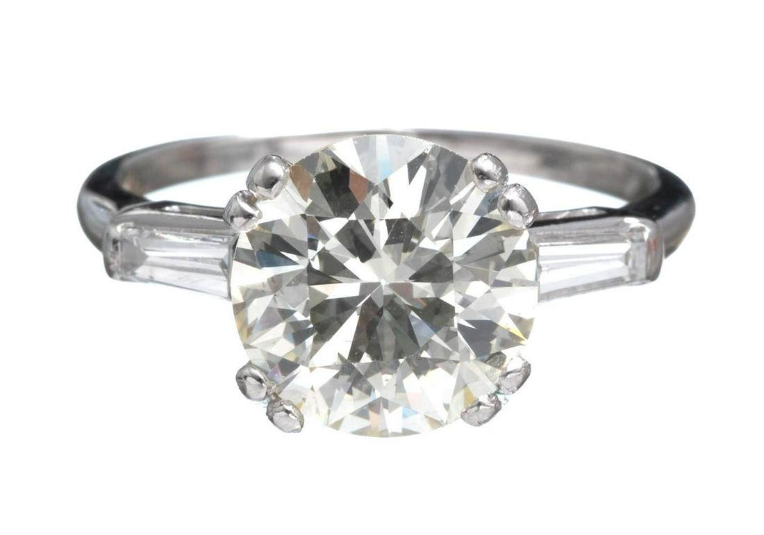 3.75ctw. Diamond Engagement Ring GIA Certified