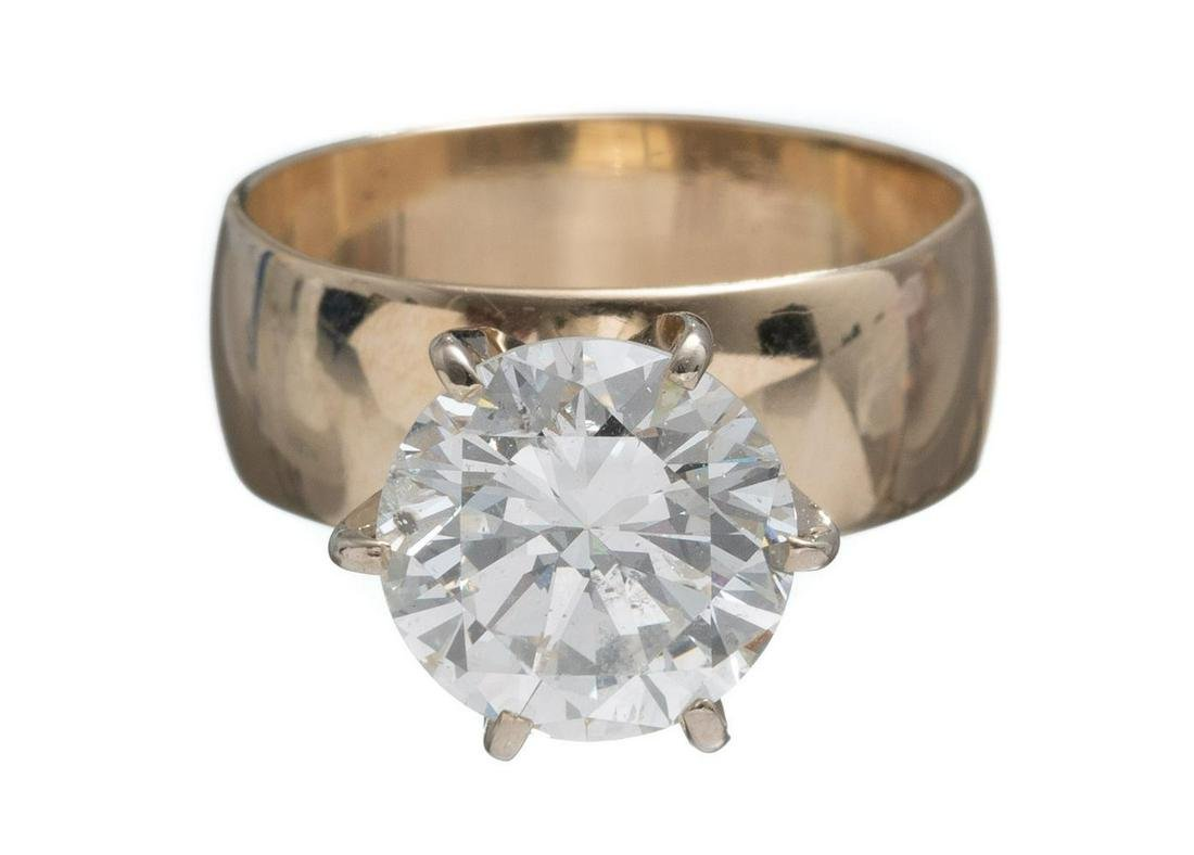 3.78ct Diamond Solitaire Engagement Ring