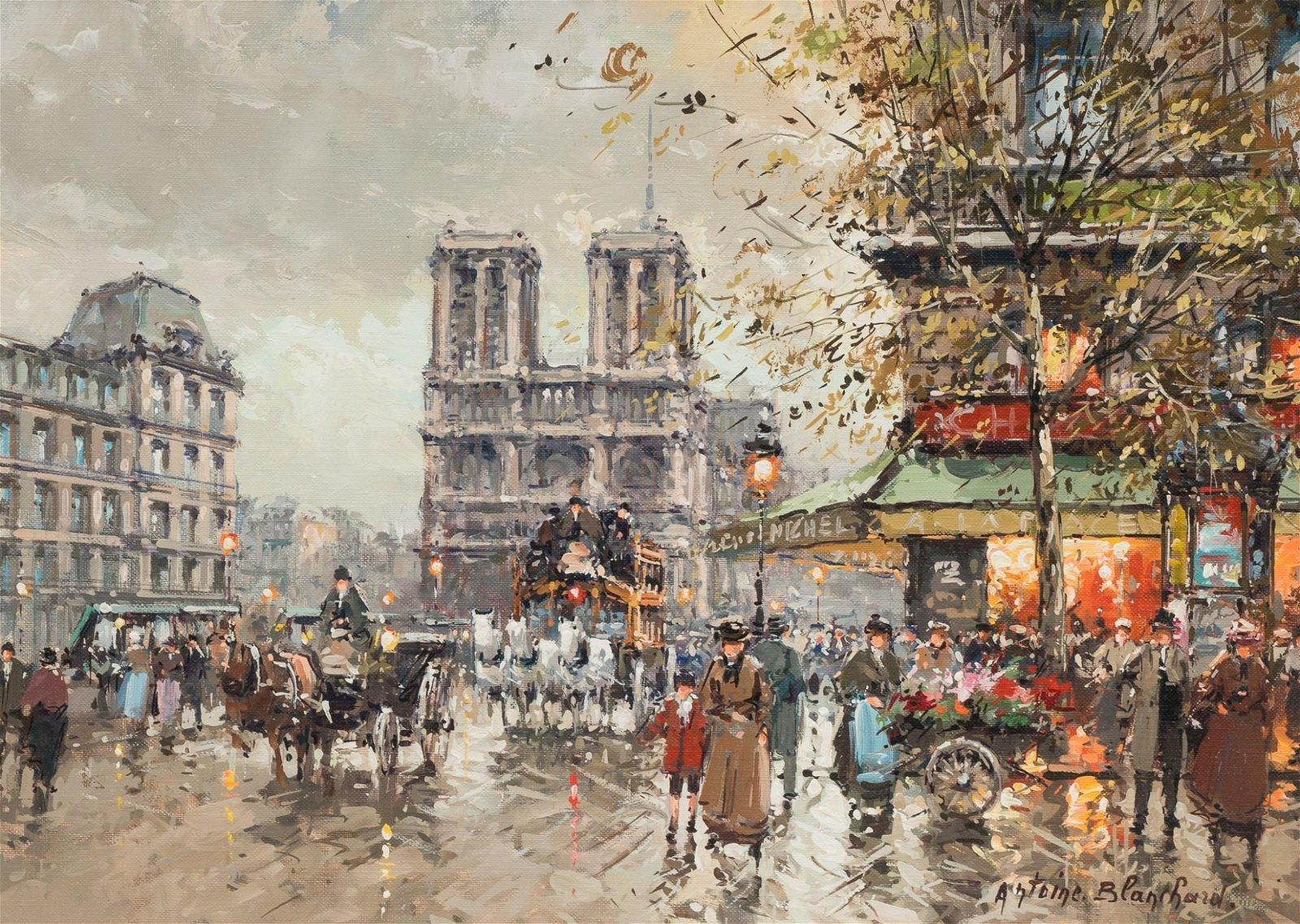 "Antoine Blanchard (c.1910-1988), ""Palace Saint Michel,"